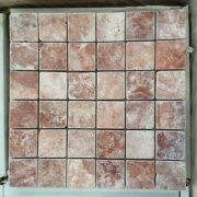 RED TRAVERTINE TUMBLED 4,8X4,8 (2)