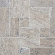 SİLVER TRV. Brushed & Chiselled 2x60x60 Traverten Fayans