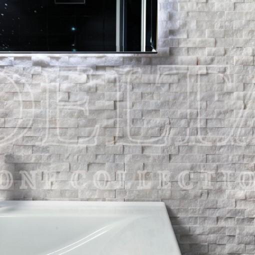 BEYAZ MERMER Patlatma 2x2.3x4.8 Mermer Mozaik