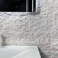 BEYAZ MERMER (SARILI) Patlatma 2x2.3x4.8 Mermer Mozaik