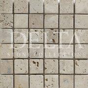 SİLVER TRV Eskitme 1x4.8x4.8 Traverten Mozaik