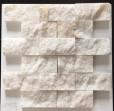 Mozaik Patlatma Beyaz Mermer
