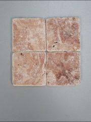 Kırmızı Traverten Eskitme Taş Mozaik